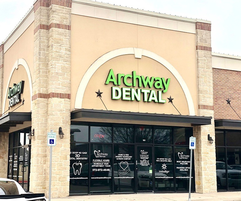 Outside view of Archway Dental office building